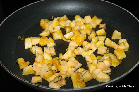 roasting plantain