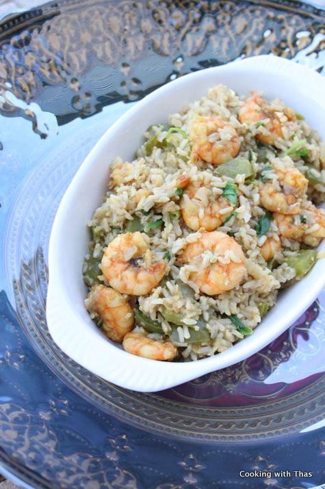 shrimp-egg-brown-rice