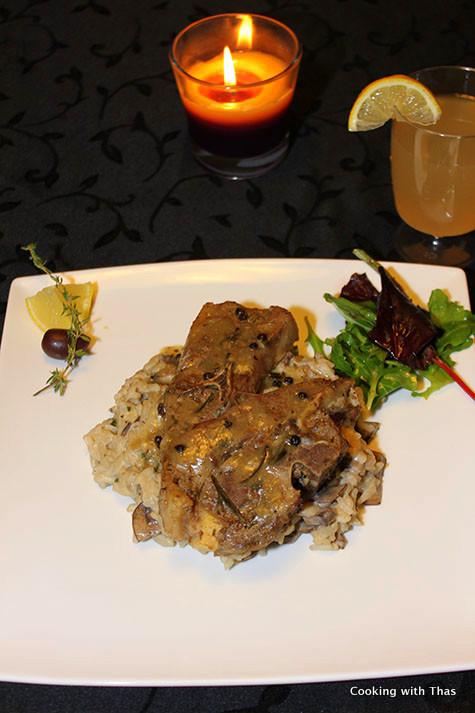 Lamb-shoulder chops baked