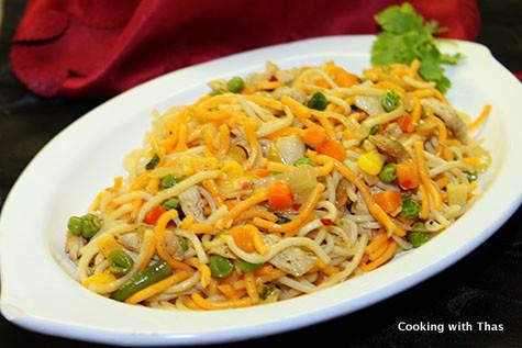 chicken chow mein noodles