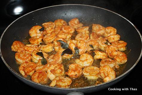frying shrimp
