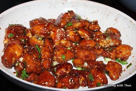 making sesame soy chicken