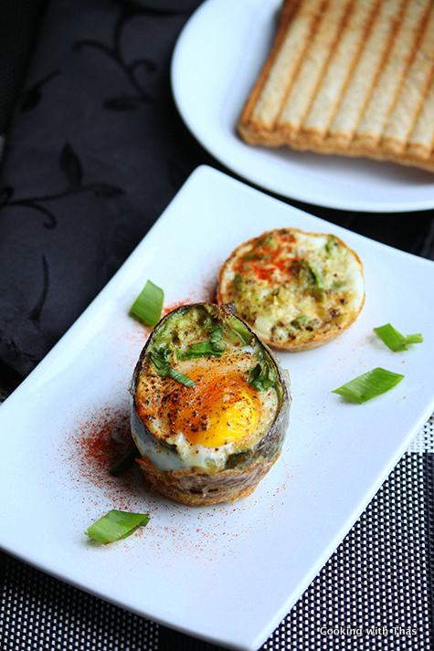 Baked- Avocado egg