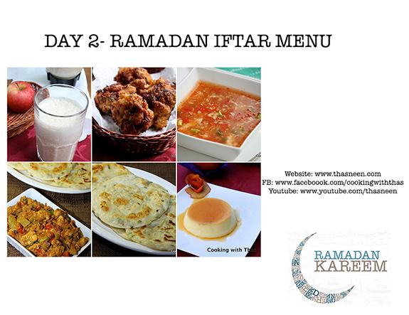 Day 2- Ramadan Iftar Menu
