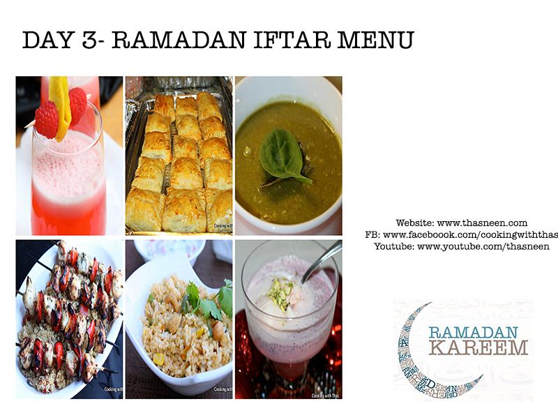 Day 3- Ramadan Iftar Menu