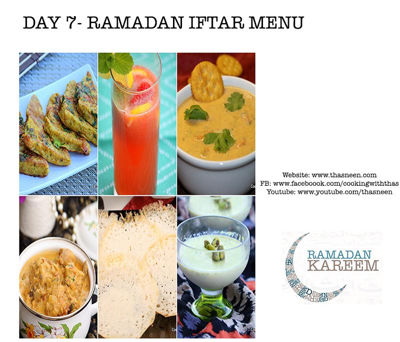 Day 7 Ramadan Iftar Menu