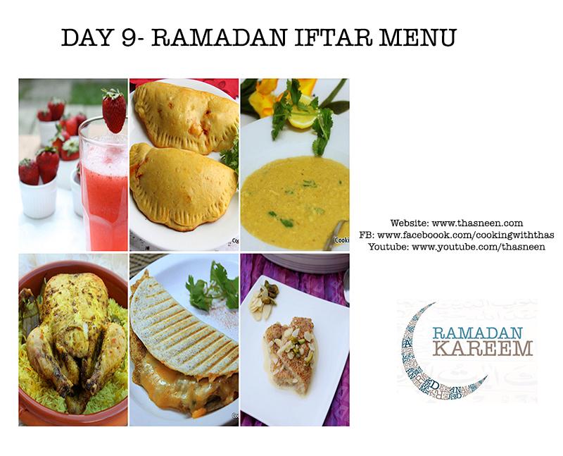 Day 9 Ramadan Iftar Menu