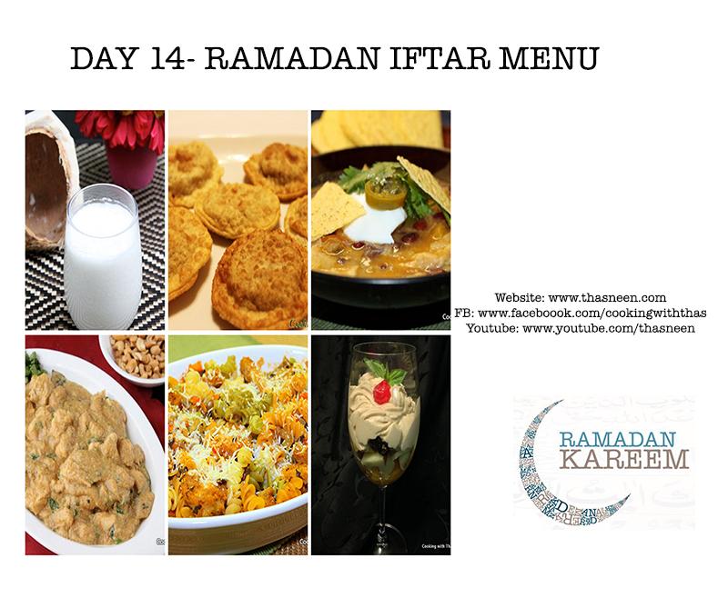 Day14 Ramadan Iftar Menu