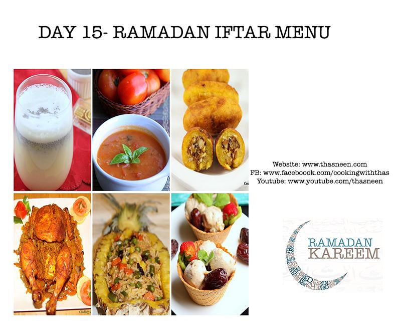 Day15 Ramadan Iftar Menu