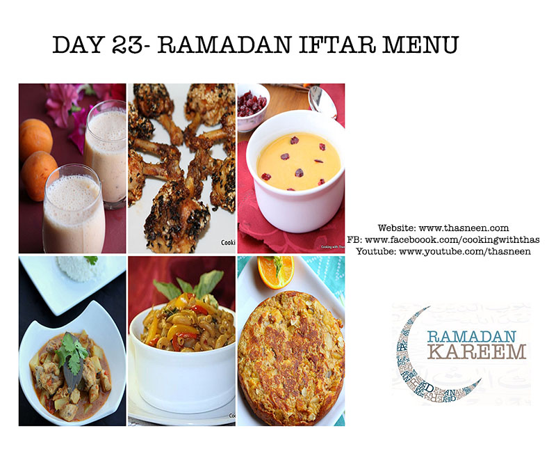 Day23 Ramadan Iftar Menu