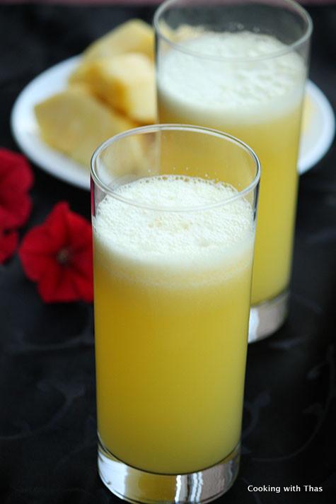 Pineapple coconut water juice