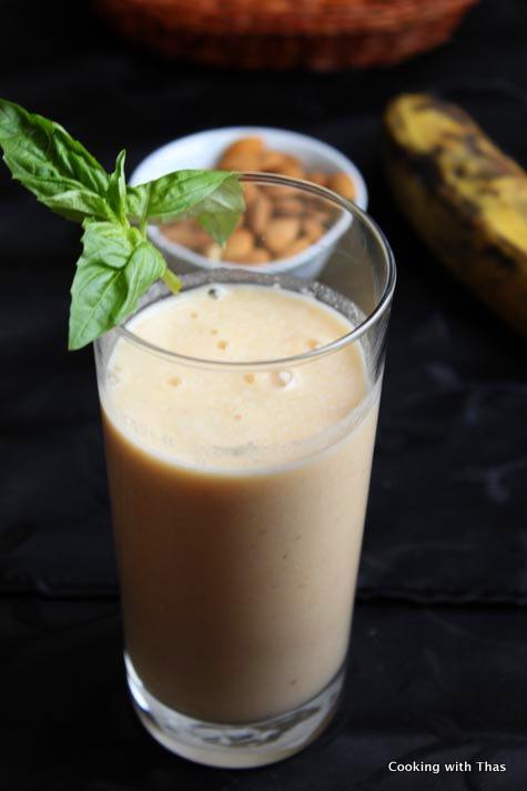 plantain-almond-smoothie