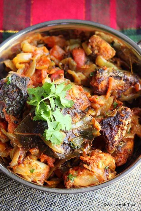 Kerala style king fish Roast
