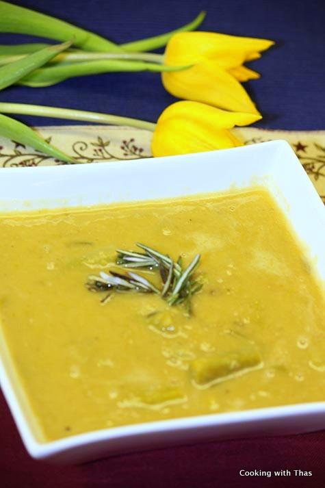 Asparagus Red Lentil soup