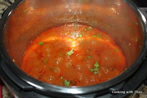Instant Pot- making-ground beef-stew