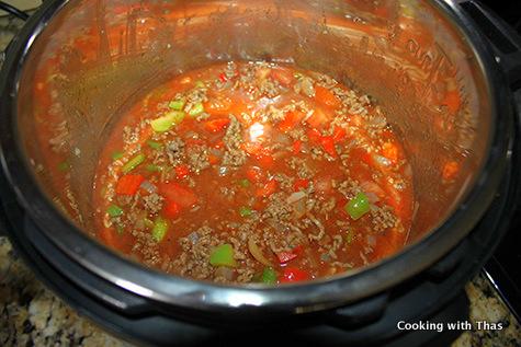 Instant Pot- making ground beef stew
