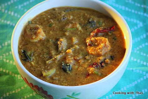 Chettinad Shrimp Sambar